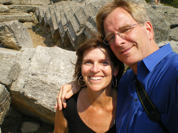 Happily married husband and wife: Rick Steves and Anne Steves