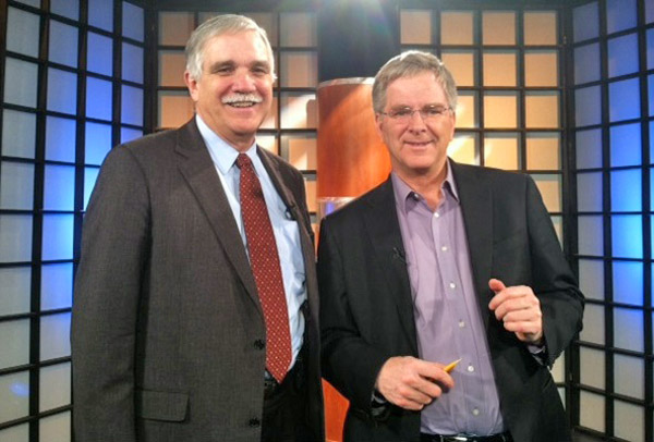 caption: Kent Geist, at WVIZ/Ideastream in Cleveland, Ohio, is one of many dedicated public  television personalities I shared the airwaves with on my Road Trip USA.