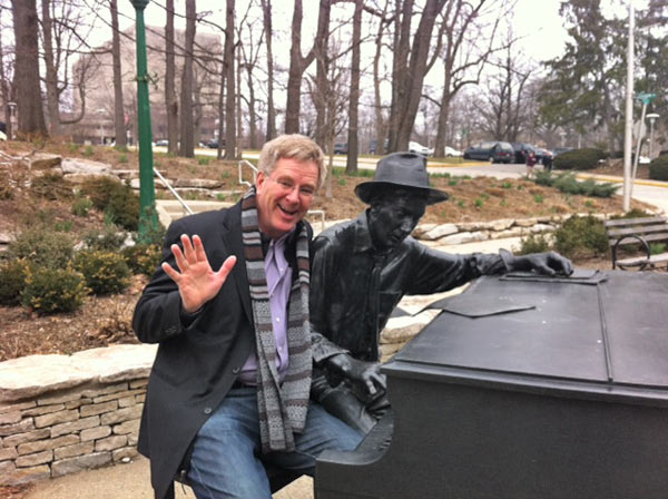 Tickling the ivories with Bloomington, Indiana's native son Hoagy Carmichael