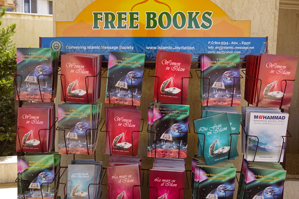 At Egypt's major tourist attractions, the Muslim Brotherhood has strategically placed racks of free books in English promoting a better understanding and appreciation of Islam.