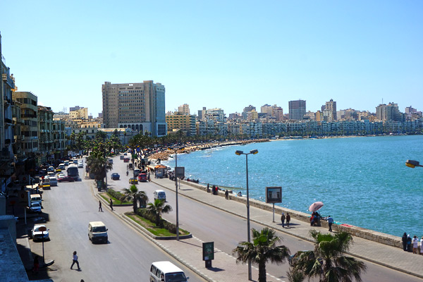 Alexandria, with a panache unique in Egypt, jams 5 million people up against the Mediterranean.