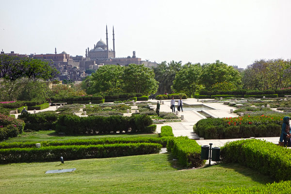 Cairo's lone park, Al-Azhar, offers an escape from the intensity of the seething streets.