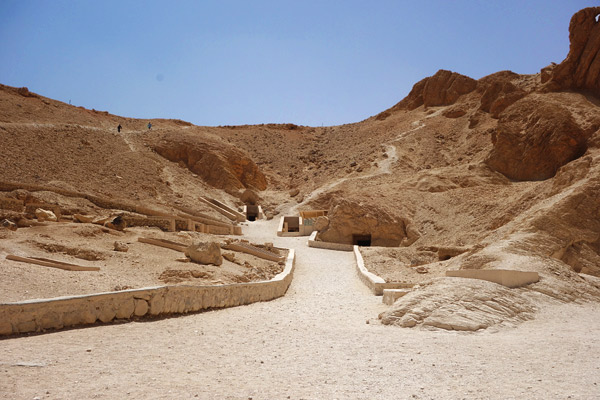 The Valley of Kings: Where pharaohs hide out while awaiting eternity.