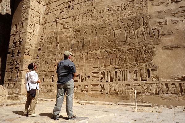 With a guide to explain the symbolism--in this case, how great Ramses III was--you learn how meaningful every inch of this carved surface is.