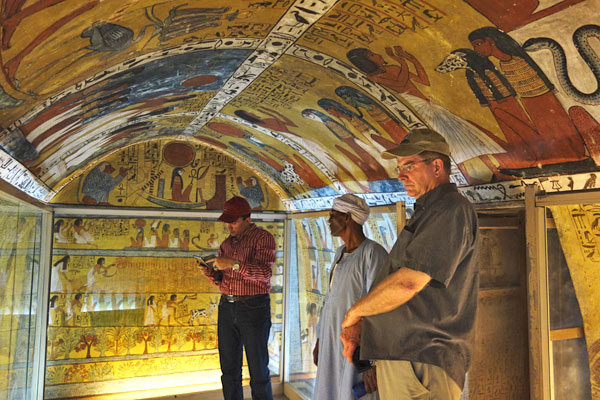 The foreman of the workers who decorated the pharaohs tomb got a cool perk--a very colorful tomb of his own.