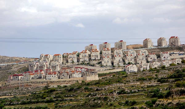 Israeli settlements generally take the high ground in Palestinian territory.