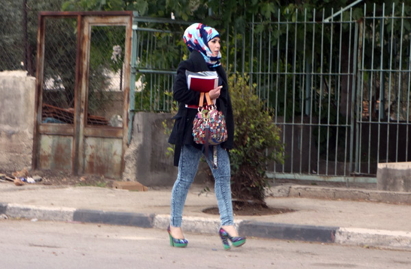 Modesty requirements are not unique to Muslims. Some conservative Christian women are expected to cover their heads in church. Some ultra-Orthodox Jewish women are expected to shave their heads and to wear a wig in public. And many Muslim women cover their heads. This woman, while technically covered, is dressed to kill.