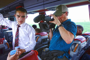 My early memories of travel in Turkey, back when I was a student, included long bus rides. On board was an attendant who handed out water and sprinkled cologne on all the stinking passengers. The tradition survives — and we filmed it.