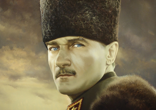 Mustafa Kemal Ataturk, one of the greatest statesmen of the 20th century and the father of modern Turkey.