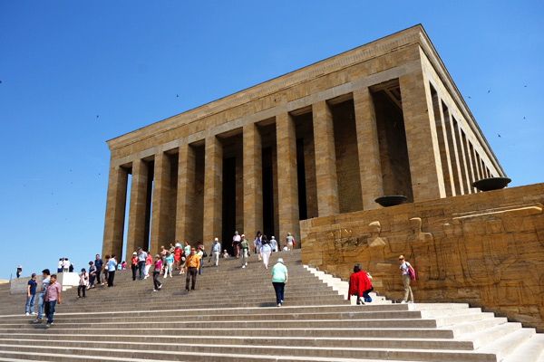The Mausoleum of Ataturk strives to fit the greatness of the man it is designed to honor and memorialize.