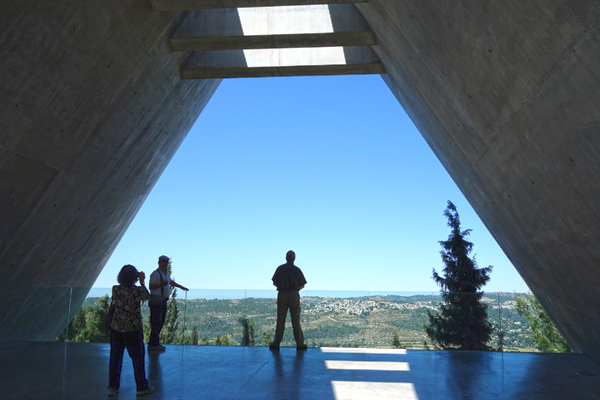 For a powerful finale, the Yad Vashem memorial finishes with a platform overlooking the land Israelis have worked so hard to establish as the one nation on earth that is Jewish.