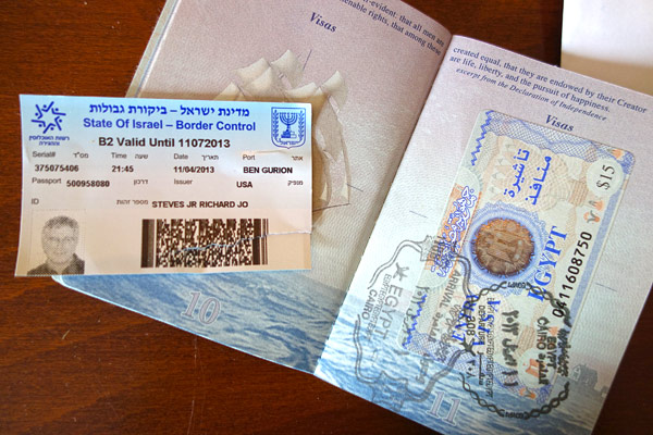 Travelers entering Israel get a visa  — but it's a separate sheet of paper clipped into your passport so that after your trip there's no evidence that you've been in Israel (which is nice if you're visiting some extreme Islamic countries). Palestine uses the same coins and currency as Israel and, strictly from a passport point of view, is like being in the same country. While crossing the border is complicated for Palestinians, for a Western tourist it's easy. Phones and ATMs work in Palestine as if you're in Israel. There is plenty of good guidebook information for independent travelers in Palestine — either as part of Israel guidebooks or as books solely on Palestine. (Please note that I did not go to Gaza which is a much less tourist-friendly situation.)