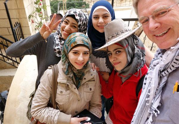 Palestine arab hijab girl show her big boobs in webcam - 3 4