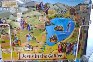 This tourist map shows all the stops Christian tour groups can make to see where famous and beloved stories and lessons from the Bible took place.