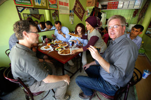 While lots of what we shoot are the predictable famous sights, we made sure to pop into no-name towns that had never seen an American tourist, ambush the local pizza joint, and have fun working it into our program. A delightful dimension of traveling in Turkey is the serendipity that is almost predictable when you venture off the main roads. Photo credit: Dean Cannon.