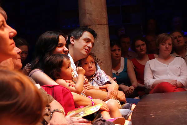 Parents bringing their children to a flamenco concert do more comforting than actually focusing on the music and dance. These children were terrified by the performance.