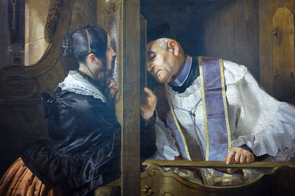 Art from Milan's Gallerie d'Italia takes you back into the 19th century—even into the confession booth.
