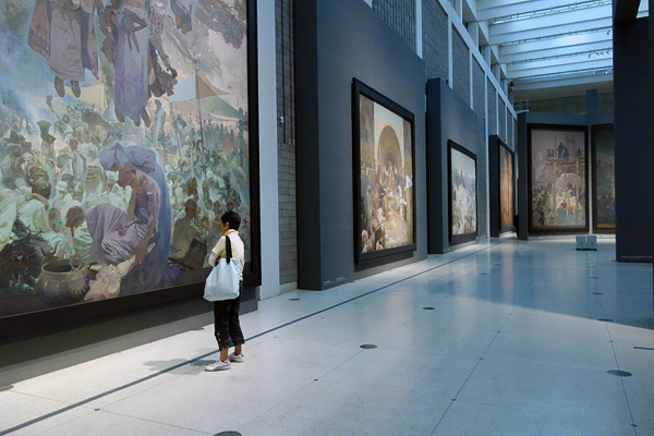 The great Czech painter Alfons Mucha's magnum opus, the Slav Epic, is finally settled in Prague, where it should be. Its 20 massive canvases connect the Czech people with their Slavic soul. It's one of the most powerful artistic experiences in Europe — don't miss it.