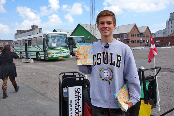 Aarhus makes cruisers feel welcome. Local students get summer work by standing by to answer any questions cruisers have as they tumble off their ships and head into town. From the port, red dots lead you on a five-minute walk into the Aarhus town center.