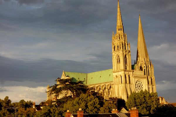 Chartres Cathedral at Sunset