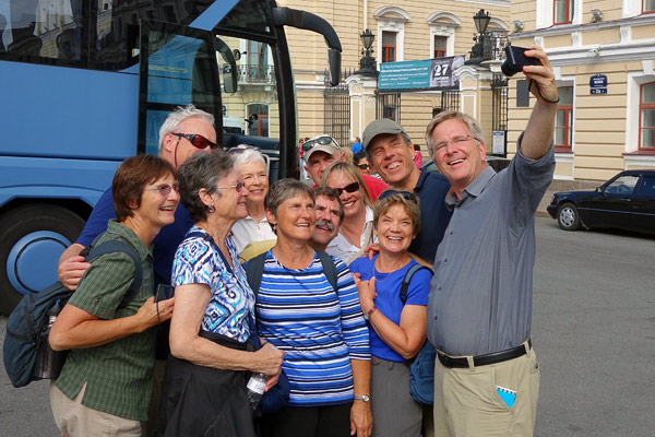 Back at our tour group's hotel, I enjoyed shooting a group selfie. After spending a day with our tour, I was impressed by how well-organized it was, the quality of our local guide, and how much fun the tour members were having. St. Petersburg is a new destination for ETBD, and I'm proud that our tour program includes it.