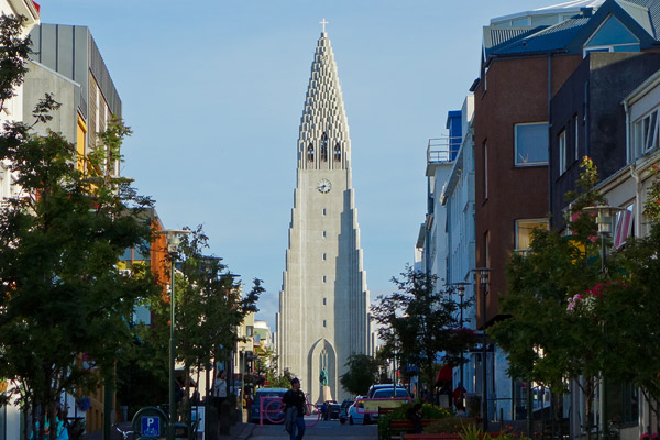 Reykjavik's Lutheran church, Hallgrímskirkja, seems to fit the terrain. Rocketing organically out of the landscape, it's the leading church in a society that is very close to nature.