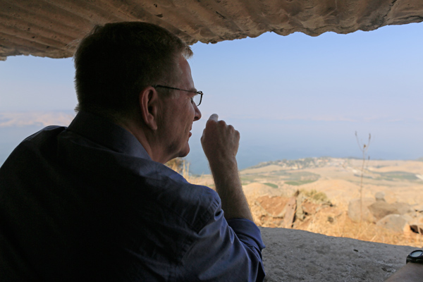 Looking out from this pillbox over the Sea of Galilee, as Syrian soldiers did for a generation, I could understand why Israel felt the need to take the Golan Heights for its own security.