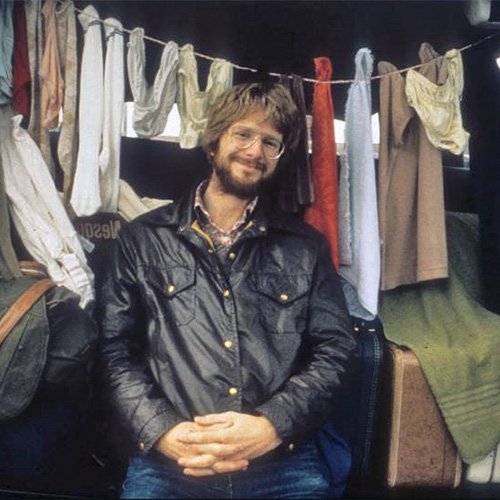 Rick Steves Hipster Fashion Tip: Leather bomber jackets and being surrounded by women's underwear