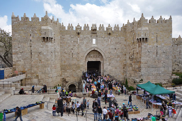 Pictured here is the Damascus Gate which leads into the Old City of Jerusalem (which itself could fill an entire episode).