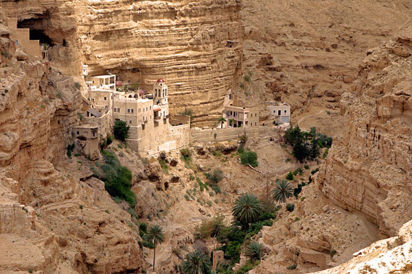 The dramatically set Monastery of St. George welcomes pilgrims and tourists alike. For 15 centuries, the faithful have ventured to this spot, hiked into the ravine, quenched their thirst, and nourished their soul.