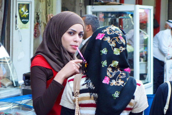 The women I talked with agreed that women are free to be individuals in Palestine, and that choosing to wear the hijab was entirely up to them. The woman who covers up is just as socially active and in on all of the jokes and fun. But when she walks in public, she feels she gets more respect.