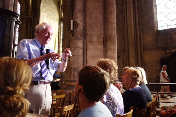 In France I found new ways to make history come to life--from strolling into the world of medieval stained-glass symbolism with Chartres scholar Malcolm Miller.