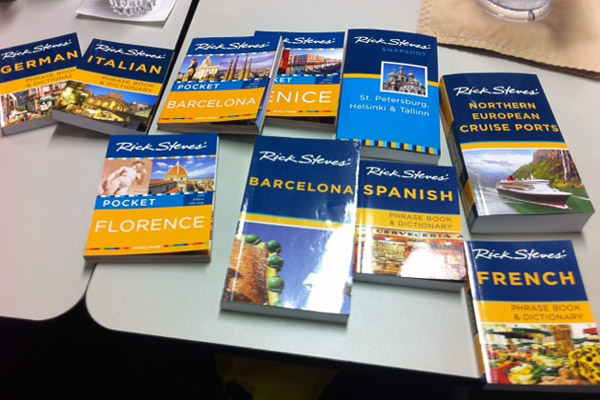"This is a selection of the new books we created for 2014--including four radically revamped phrase books; ""Pocket"" guides to Venice, Barcelona, and Florence; a book covering Northern European cruise ports; a Barcelona guidebook; and more."