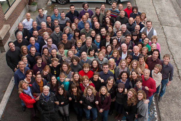 In 2014, well over a hundred guides lead Rick Steves tours (and each guides in his or her region far better than Rick could). These are the guides who make up the 2014 Rick Steves' Europe Tour Guide Summit (many of them in the USA for the first time.)