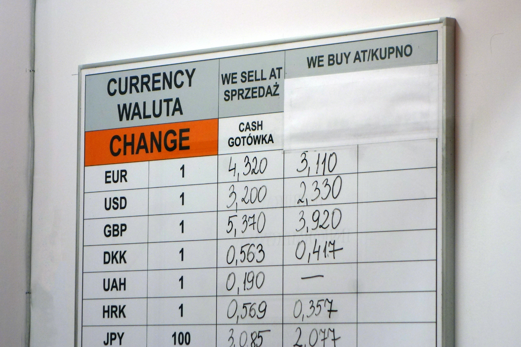 Buying and selling exchange rates