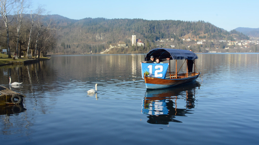 Saso-Golub-and-Tina-Hiti---boat-on-Lake-Bled---Slovenia