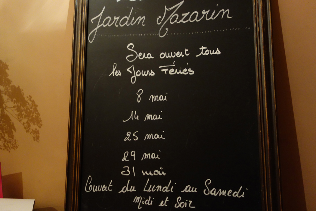 French restaurant open in may