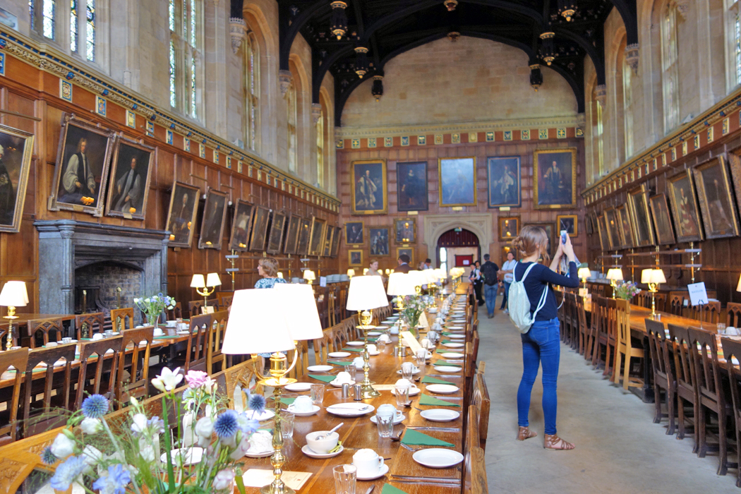 Harry Potter Great Hall film location in Oxford