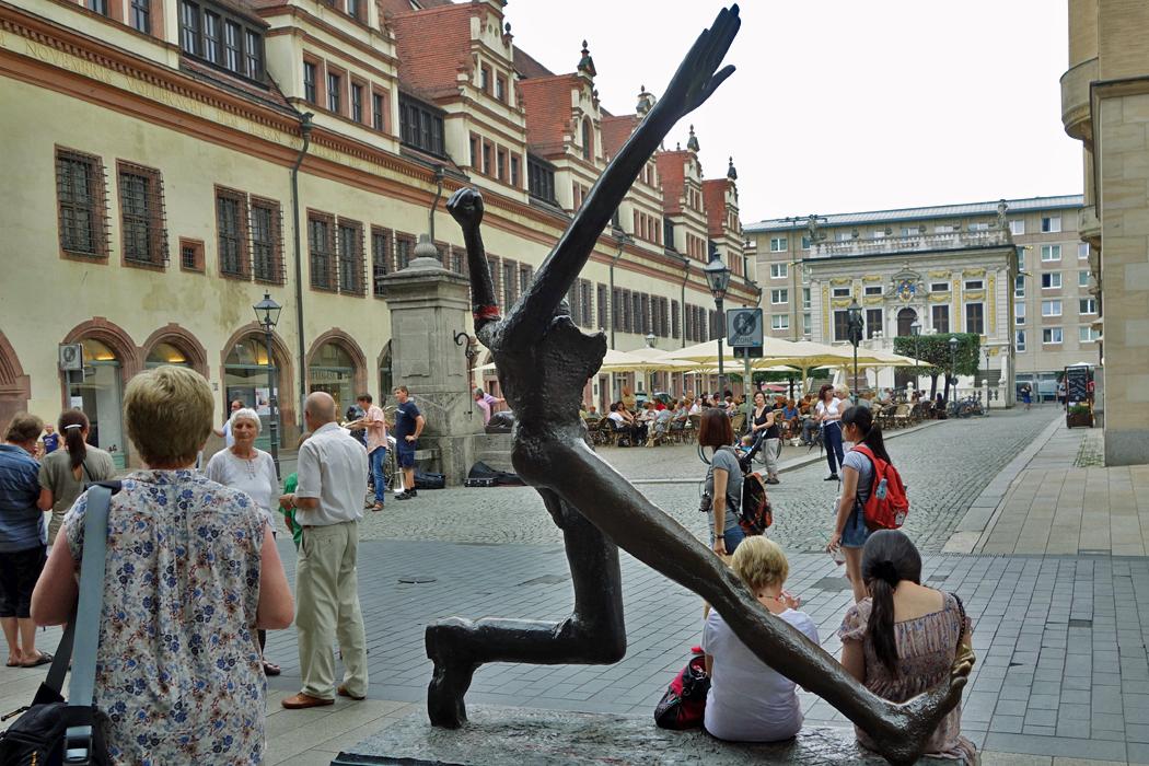 Statue in Leipzig
