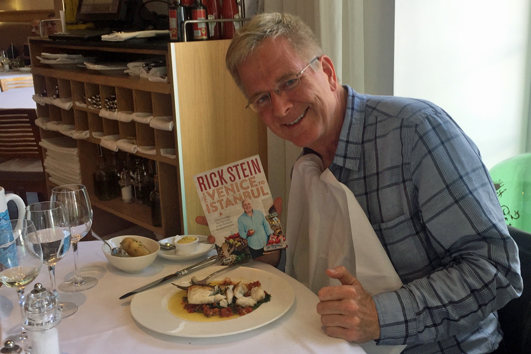 Rick Steves with Rick Stein book