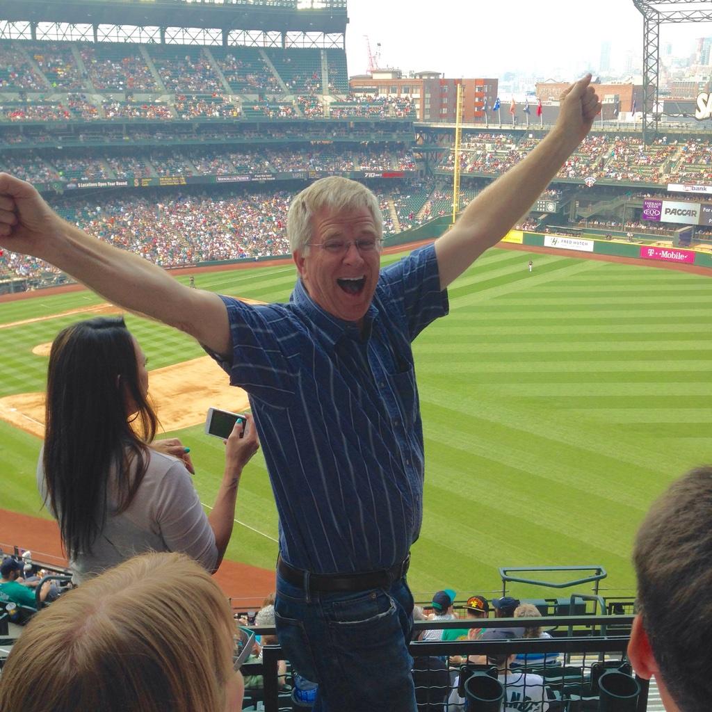 Rick Steves at Mariners game