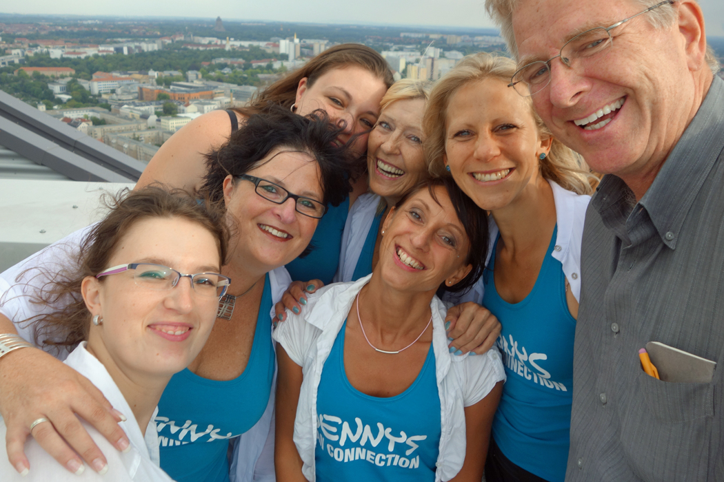 Rick Steves and women from a hen party