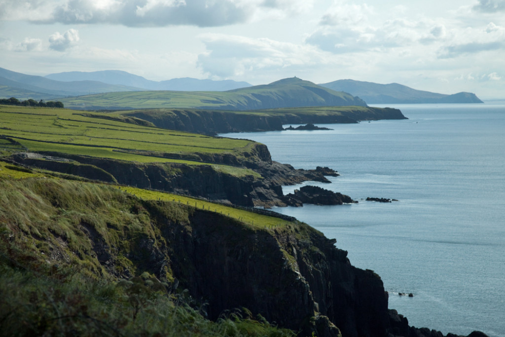 Cliffs in Dingle, Ireland
