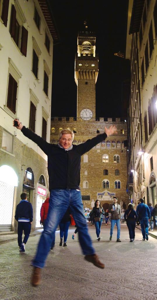 Rick Steves jumping
