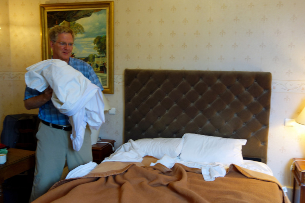Rick Steves with sheets
