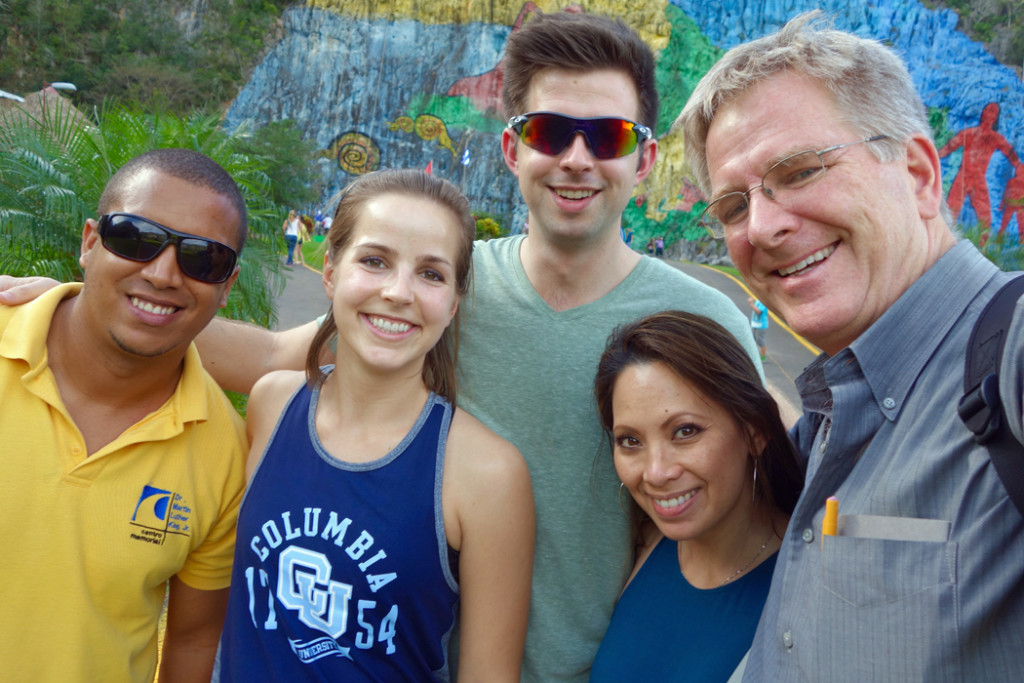 Rick Steves, family, and tour guide