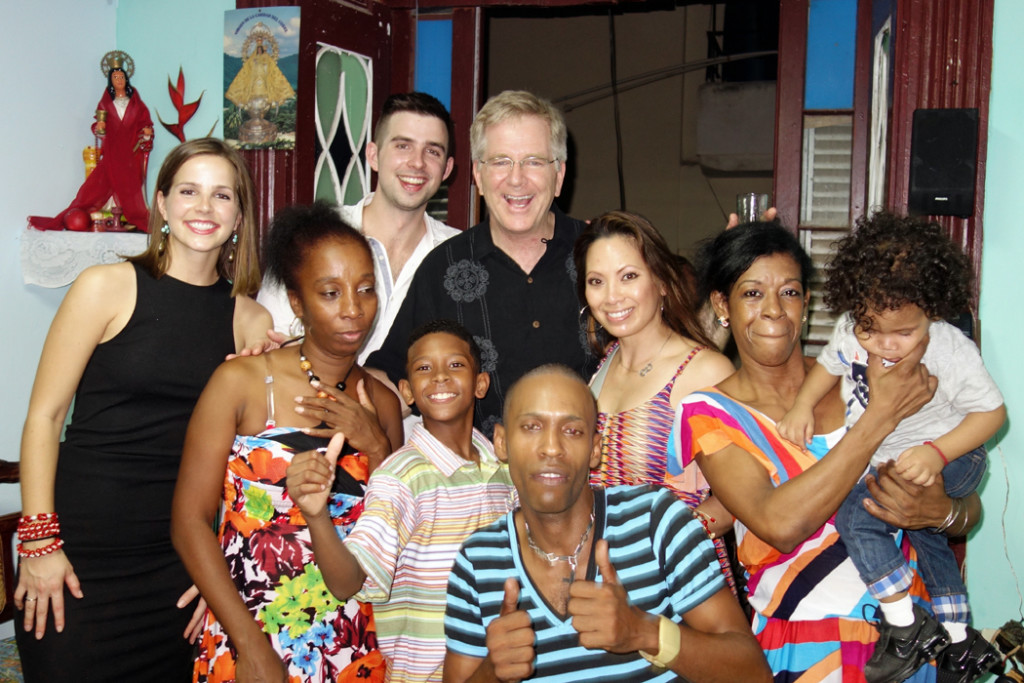 Rick Steves family with Cubans