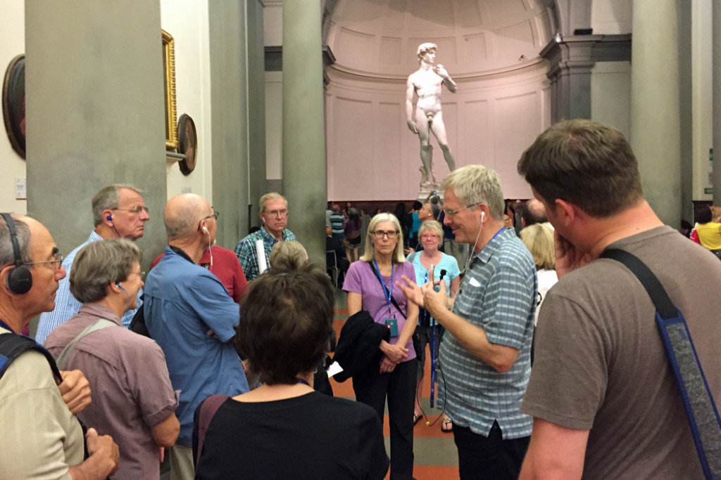 Rick Steves And Tour Group In Front Of David Sculpture