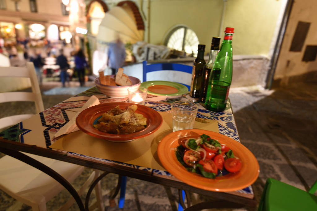 My dinner at Taverna degli Apostoli, in Amalfi, looked like an artistic tableau. And it tasted good, too.
