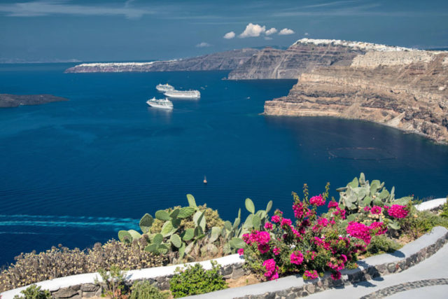 Postcards From Greek Islands Santorini And Mykonos